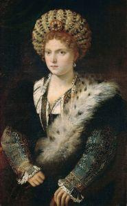 Titian, Portrait of Isabella d'Este (or Isabella in Black), 1534-6.