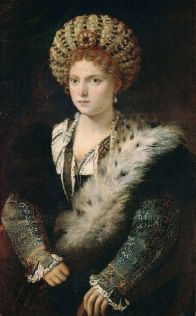 Titian, Portrait of Isabella d'Este (or Isabella in Black), 1534-6.