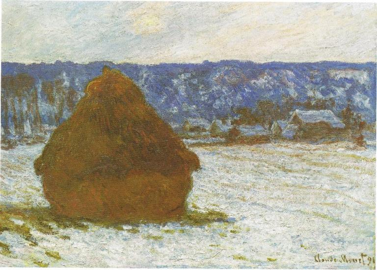1281_Wheatstack_(Snow_Effect,_Overcast_day),_1890-91,_66_x_93_cm,_26_x_36_5-8,_The_Art_Institute_of_Chicago