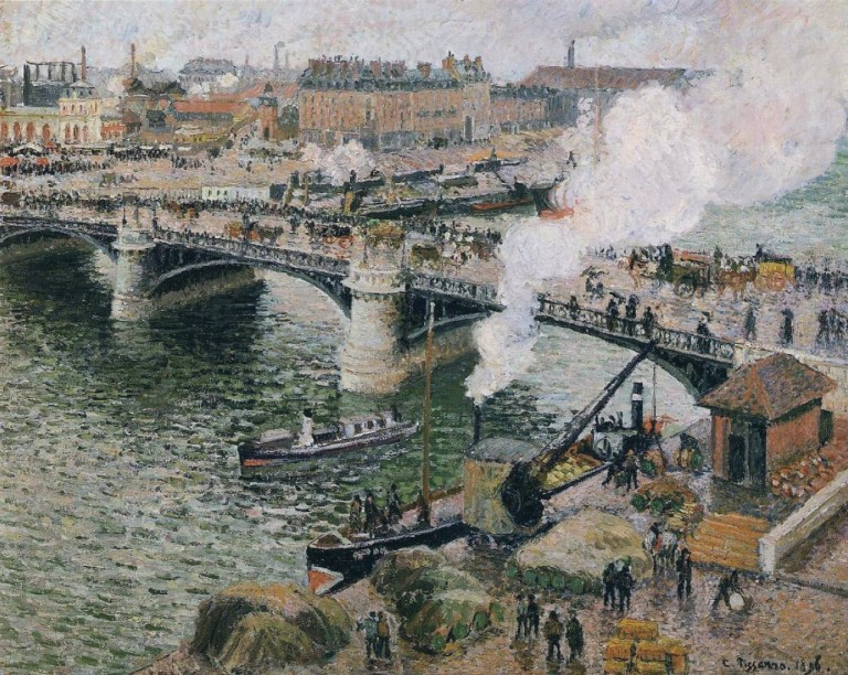 Pissarro_-_Pont_Boieldieu_in_Rouen,_Rainy_Weather