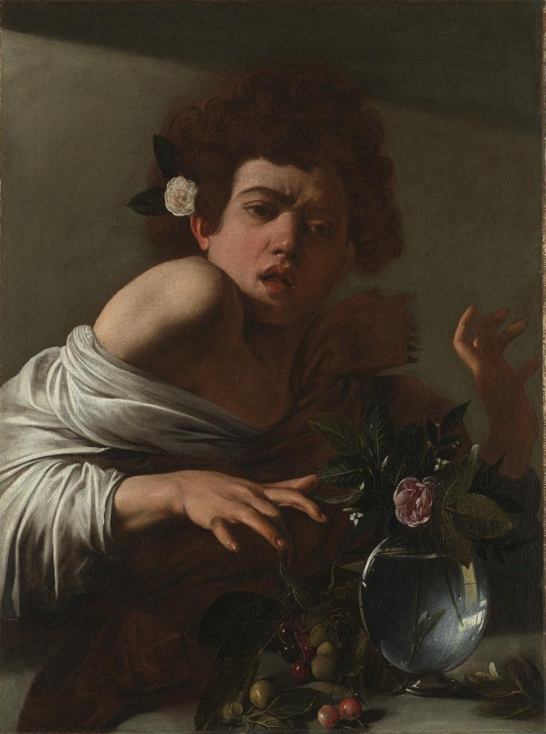 Caravaggio, Boy Bitten By Lizard, 1594-5.
