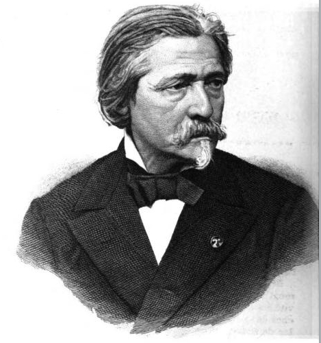 Portrait of the Belgian sculptor Joseph Geefs, 1888.