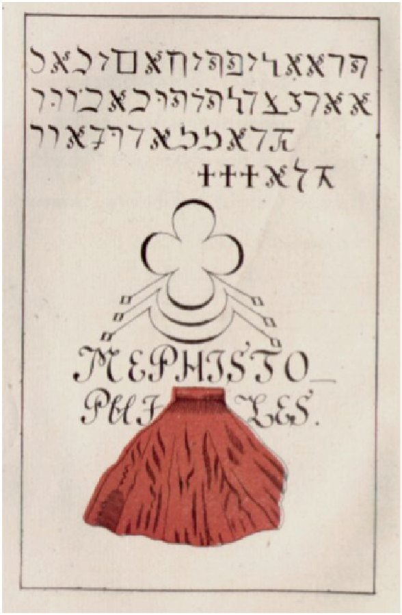 Johann Georg Faust, page from Praxis Magia Faustiana, 1527. Passau.