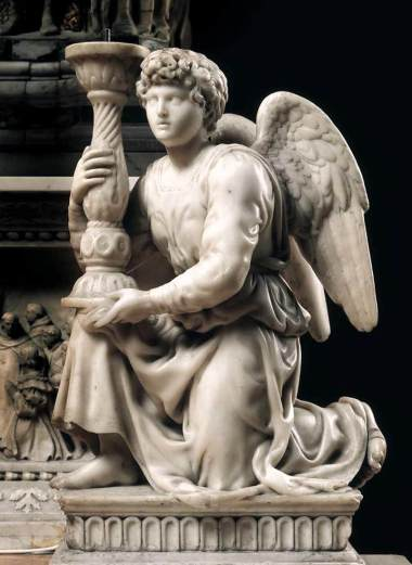 Michelangelo, Angel with Candlestick. 1494. Marble, 51.5 cm. San Domenico, Bologna.