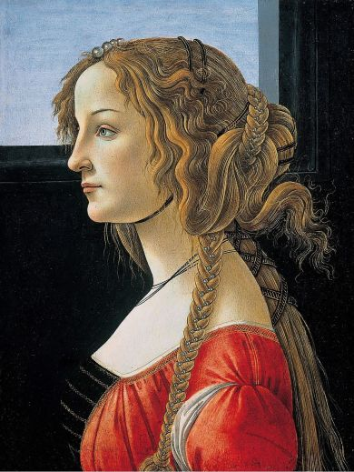Workshop of Sandro Botticelli, Simonetta Vespucci, 1475-80.