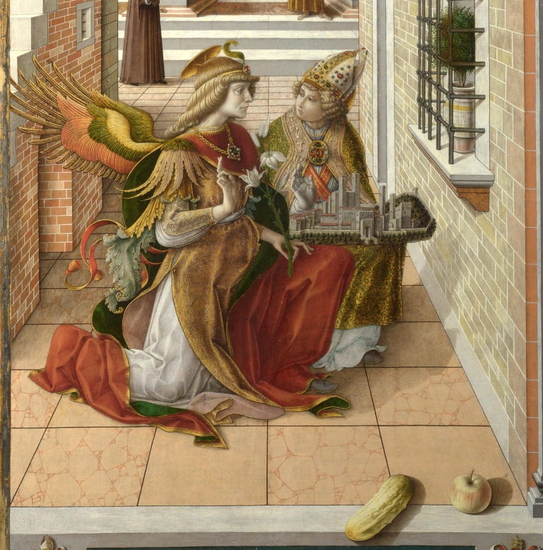 Carlo Crivelli,The Annunciation with Saint Emidius, 1486.