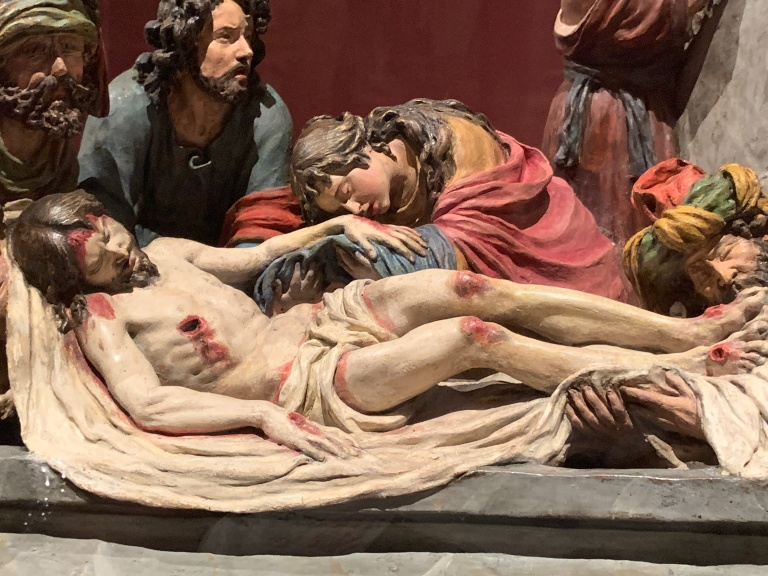 detail from Luisa Ignacia Roldán, The Entombment of Christ, 1700-1.