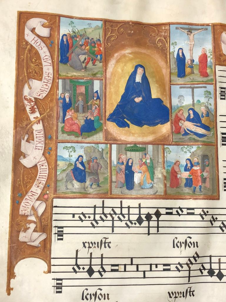 The Seven Sorrows of Mary, accompanying Missa de septem doloribus, fol. 42v, JenaU4. Image courtesy of the author.
