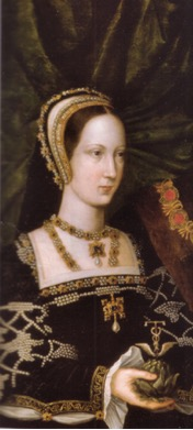 Attributed to Jan Gossaert, detail of Mary Tudor from Portrait of Mary Tudor and Charles Brandon, c. 1516.