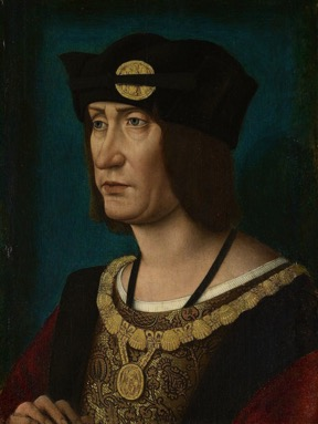 Workshop of Jean Perréal, Portrait of Louis XII, King of France, c. 1514.