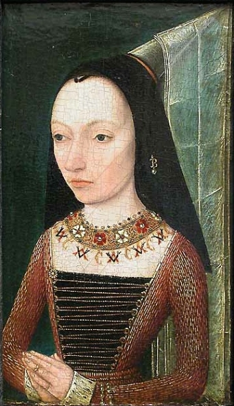 Portrait of Margaret of York.