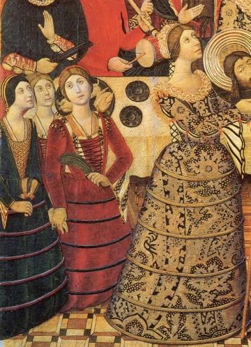 (5)Pedro García de Benabarre, Salome from the St John Retable, Catalonia, 1470–1480.