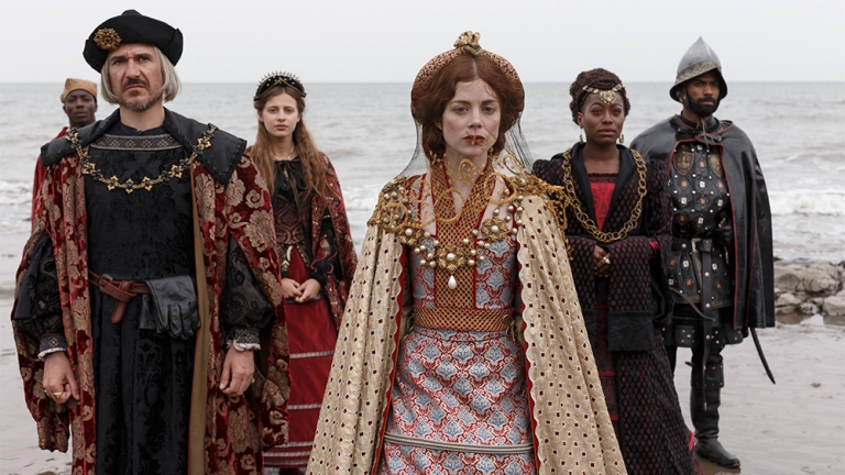 Catherine and her entourage arrive in England, The Spanish Princess, 2019