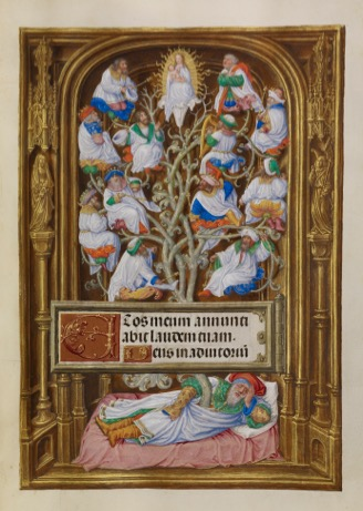 Master of James IV of Scotland, The Tree of Jesse from the Spinola Hours of Ludwig, c. 1510 - 1520.