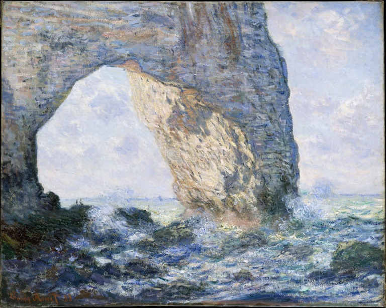 The Manneporte (Étretat),1883. Oil on canvas, 25 3/4 x 32 in. (65.4 x 81.3 cm). The Metropolitan Museum of Art, New York.