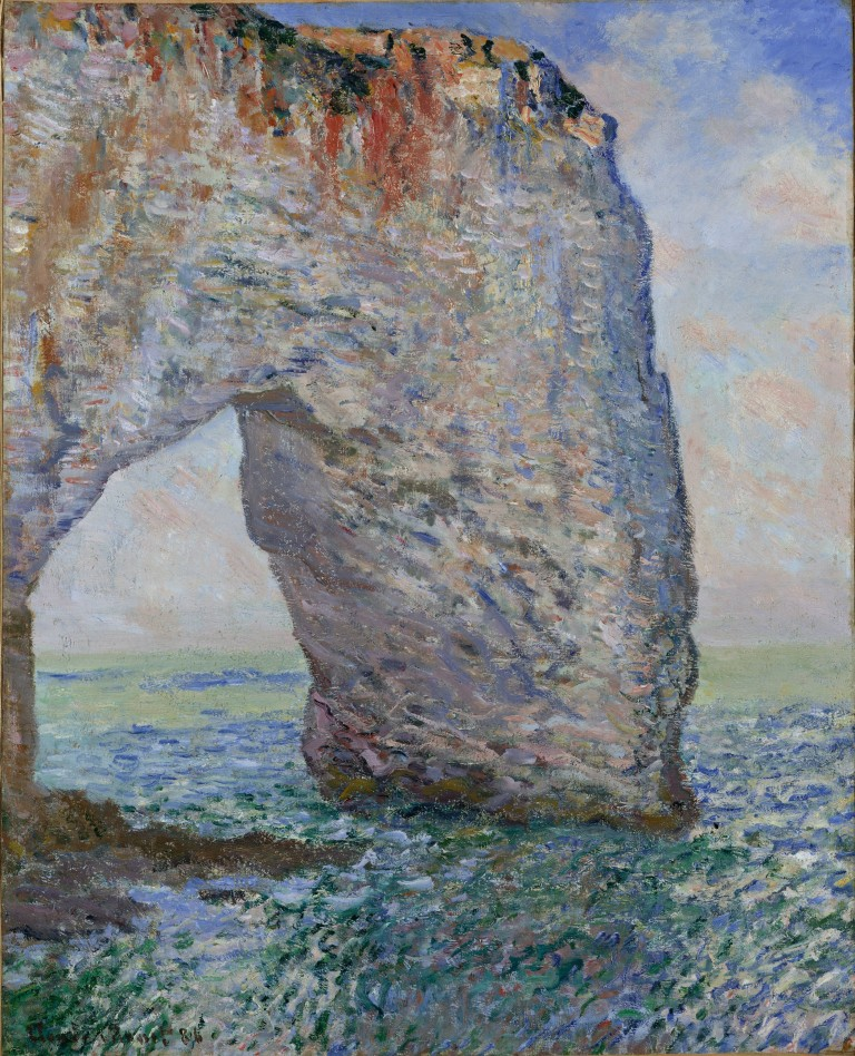 The Manneporte near Étretat, 1886. Oil on canvas, 32 x 25 3/4 in. (81.3 x 65.4 cm). The Metropolitan Museum of Art, New York.