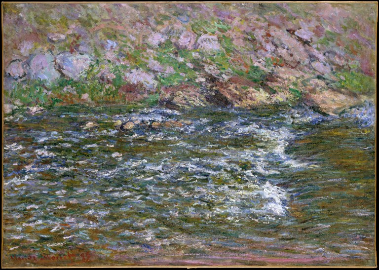 Rapids on the Petite Creuse at Fresselines, 1889. Oil on canvas, 25 3/4 x 36 1/8 in. (65.4 x 91.8 cm). The Metropolitan Museum of Art, New York.